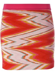 Missoni Fitted Knitted Skirt Pink And Purple