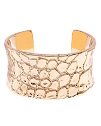 Ted Baker Allena Crocodile Embossed Cuff Gold