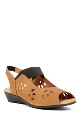 J. Renee Abner Suede Slingback Wedge Wide Width Available Brown