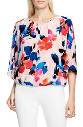 Vince Camuto Women's Floral Rendezvous Batwing Blouse Rose Buff