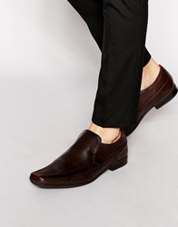 Base London Slip On Shoe In Leather Brown