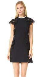 Giambattista Valli Lace Sleeve Dress Black