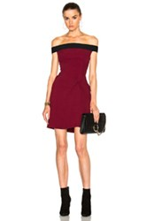 Roland Mouret Stretch Double Crepe Dress In Red