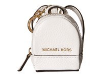 Michael Michael Kors Leather Charms Rhea Backpack Optic White Wallet
