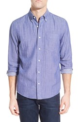 Men's Jack Spade 'Palmer Stripe' Trim Fit Sport Shirt