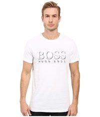 Hugo Boss Short Sleeve Crew Bm 10144 Logo Spf Tee White 3 Men's Swimwear