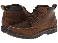 Skechers Segment Relaxed Fit Moc Toe Boot Dark Brown Men's Shoes