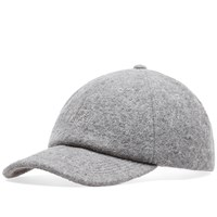Stussy Boiled Wool Stock Logo Cap Grey