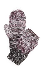 Rebecca Minkoff Melange Degrade Pop Top Gloves Aubergine