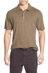 Men's Gramicci 'Strike' Performance Jersey Polo Dusty Olive