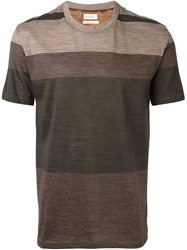 Paul Smith Striped T Shirt Green