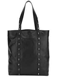 Borbonese Studded Tote Bag Black
