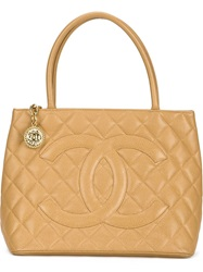 Chanel Vintage 'Medallion' Tote Nude And Neutrals