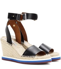 Stella Mccartney Espadrille Wedge Sandals Black