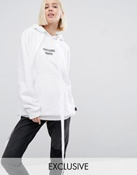 Adolescent Clothing Christmas Professional Wrapper Oversized Hoodie White
