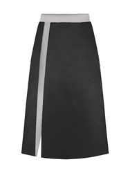 Hotsquash Silky A Line Skirt In Clever Fabric Black