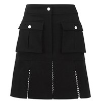 Karl Lagerfeld Women's Karl Denim Flare Skirt Black