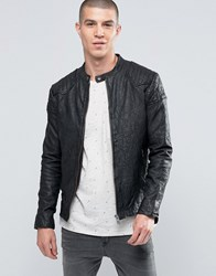 Selected Homme Ryan Leather Jacket Black