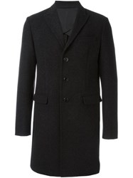 Dsquared2 Long Sleeved Overcoat Grey