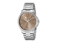 Gucci G Timeless Large Brown Dial Steel Bracelet Stainless Steel Brown Watches Silver