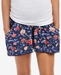 Motherhood Maternity Printed Shorts Navy Floral