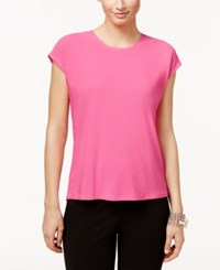 Cece By Cynthia Steffe Short Sleeve High Low Top Rainbow Pink