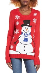 Love By Design Women's Snowman Christmas Sweater