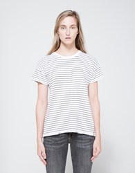 Rag And Bone Vintage Stripe Crew White Black