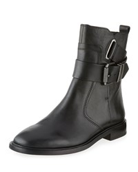 Ash Protest Leather Bootie Black