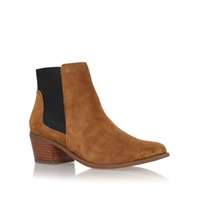 Miss Kg Spider Low Block Heel Ankle Boots Tan