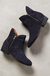 Anthropologie Seychelles Lucky Penny Booties Navy 6 Boots