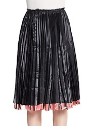 Comme Des Garcons Reversible Pleated Skirt Black