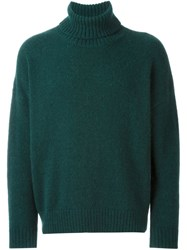 Ami Alexandre Mattiussi Oversized Turtleneck Sweater Green