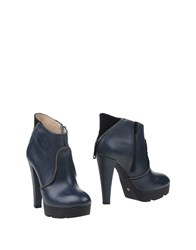 Alessandro Dell'acqua Footwear Ankle Boots Women Dark Blue