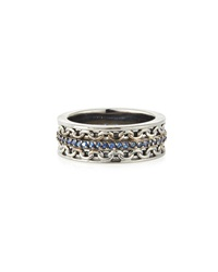 Men's Silver Ring With Blue Sapphire Stephen Webster