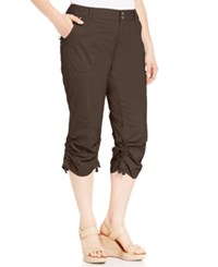 Inc International Concepts Plus Size Ruched Cargo Pants Coffee Bean