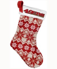 Forever Collectibles San Francisco 49Ers Ugly Sweater Knit Team Stocking Red