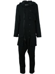 Rundholz Zip Up Jumpsuit Black