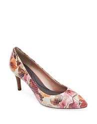 Rockport Total Motion Floral Leather Pumps Pink