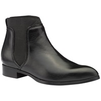 Ted Baker Maki Pointed Toe Chelsea Boot Black Leather