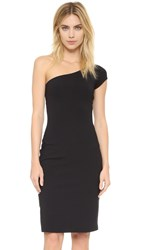 Susana Monaco Shaunie One Shoulder Dress Black