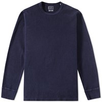 Blue Blue Japan Long Sleeve Hand Dyed Ribbed Tee