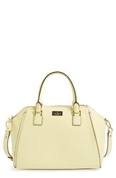 Kate Spade New York 'Prospect Place Pippa' Leather Satchel Yellow Lemon Souffle