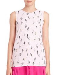 Kenzo Cartoon Cactus Sleeveless Blouse Faded Pink