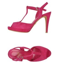 Eva Turner Sandals Fuchsia