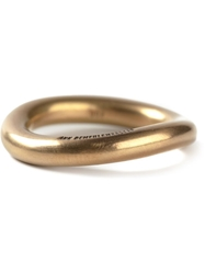 Ann Demeulemeester 22Kt Gold Curved Ring Metallic