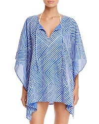 Echo Paradise Weave Kangaroo Tunic Swim Cover Up Dazzling Blue