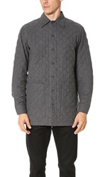 Camo Victory Quilted Herringbone Shirt Jacket Grey
