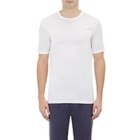 Barneys New York Men's Jersey Crewneck T Shirt White