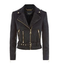 Juicy Couture Coated Boucle Biker Jacket Female